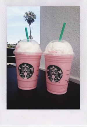 Cotton Candy Frappe with the sis. Photo by author.
